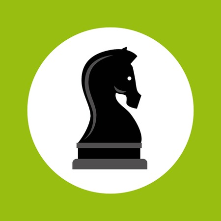 chess horse: chess horse strategy business vector illustration design