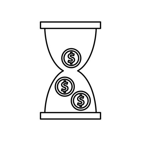 time is money concept icon vector illustration design Illustration