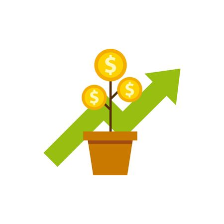 funds: growth funds economy concept vector illustration design