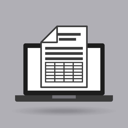 archive site: document format with electronic device vector illustration design Illustration
