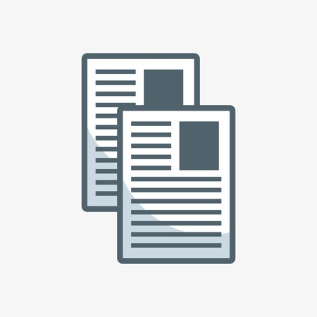 documents paper flat icon vector illustration design  イラスト・ベクター素材