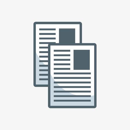 Documentos papel plano icono vector ilustración diseño Foto de archivo - 63058884
