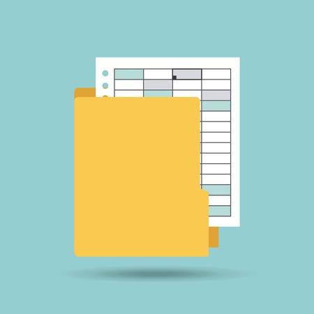 icono de formato de documento plana ilustración vectorial de diseño