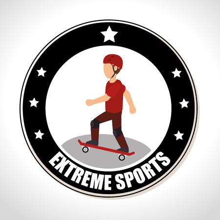 skateboarding extreme sports Badge Stamp. colorful design. vector illustration