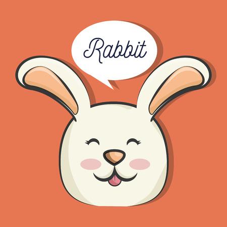 animales lindo conejo. conejo de dibujos animados. diseño colorido. ilustración vectorial