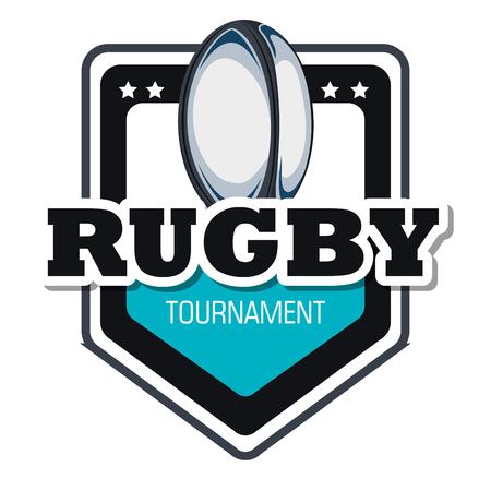 porting: rugby goal tournament emblem graphic vector illustration eps 10 Illustration