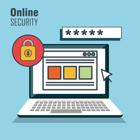 cyber defence: security protection data base vector illustration eps 10