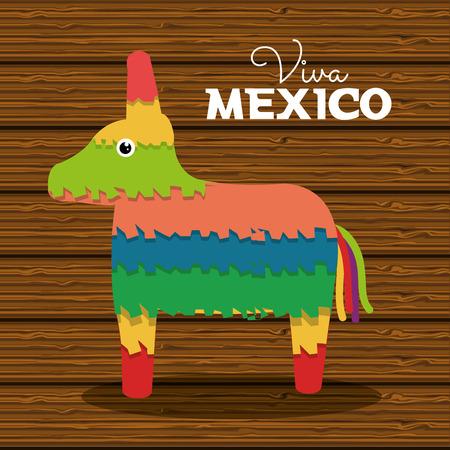 pinata: donkey pinata mexican carnival design vector illustration eps 10