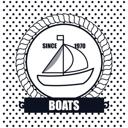 wharf: sailing boat icon background dot design vector illustration eps 10