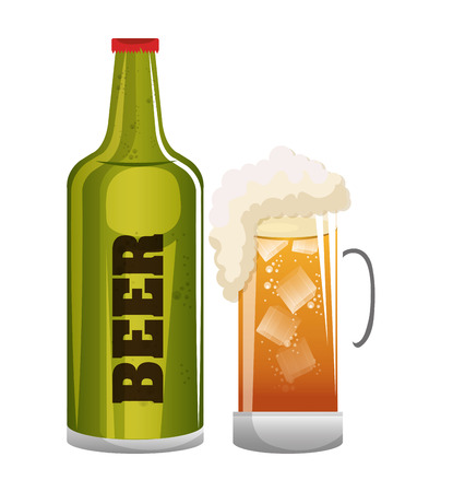 beer glass icon design graphic vector illustration eps 10 Illustration
