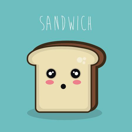 cartoon character sandwich icon design vector illustration eps 10