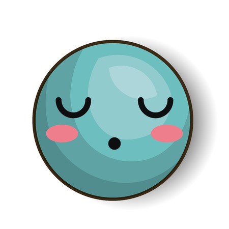 sleepy emoji blue design isolated vector illustration eps 10