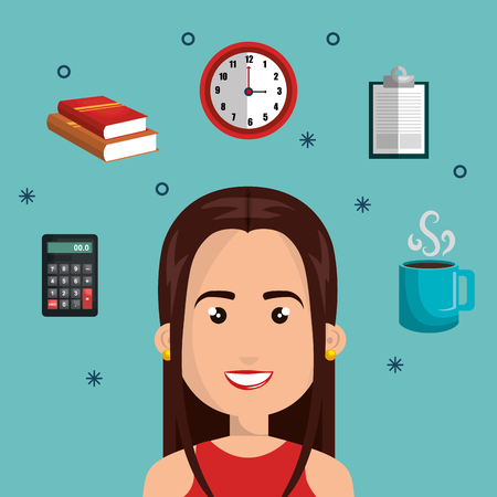 multitask: character woman multitask design graphic isolated vector illustration eps 10