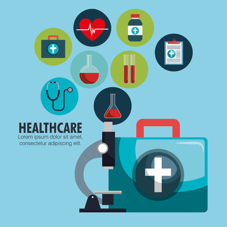 collection healthcare medical icons design vector illustration
