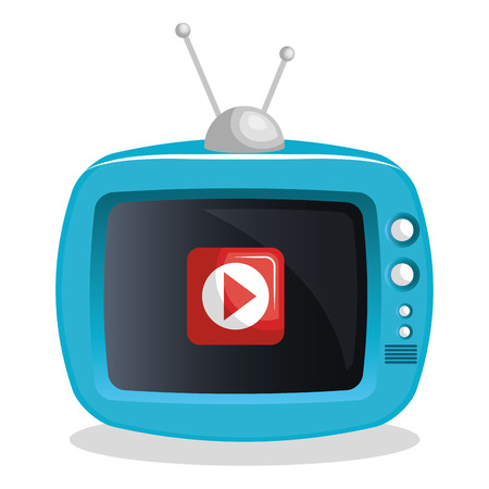 livestream: tv video play live streaming graphic vector illustration Illustration
