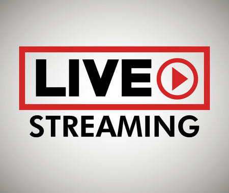 -knopicoontje live streaming grafisch vector illustratie