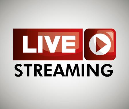 button icon live streaming design graphic vector illustration