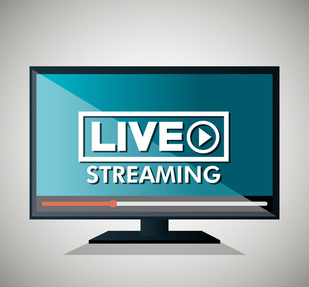 streaming: screen with live streaming icon vector illustration