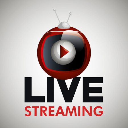streaming: tv video play live streaming graphic vector illustration Illustration