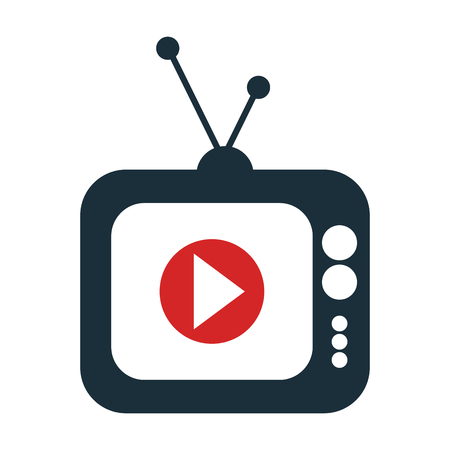live stream tv: screen with live streaming icon, vector illustration