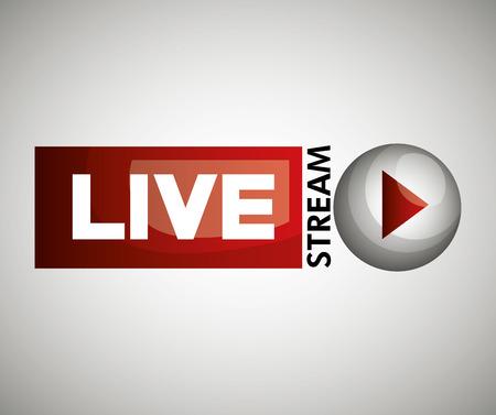 pulsante con l'icona di design live streaming illustrazione grafica vettoriale