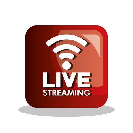 bouton icône design live streaming vecteur graphique illustration