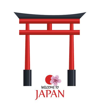 welkom japan pictogram ontwerp vector illustratie