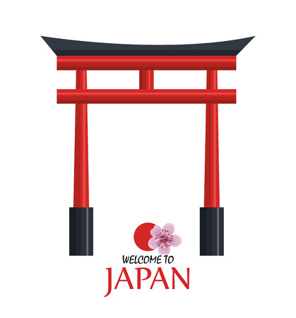 welcome japan icon design vector illustration