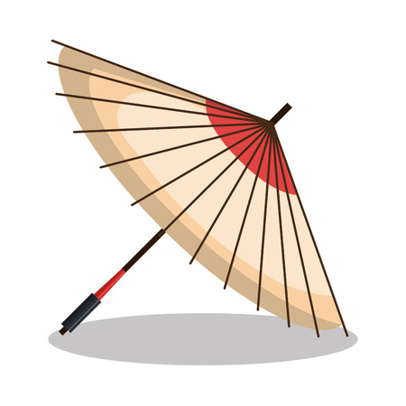 umbrella icon japanese graphic vector illustration
