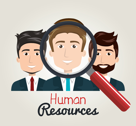 contingency: men cartoon human resources search find vector illustration Illustration