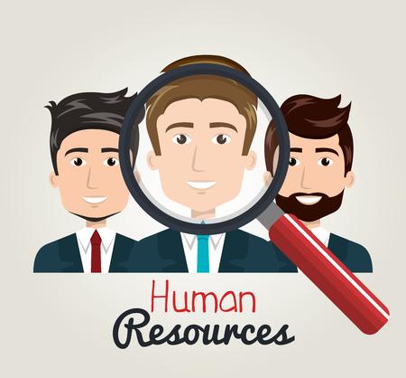 men cartoon human resources search find vector illustration Illustration