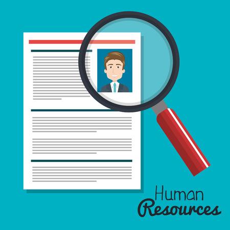 human resources zoeken kiezen curriculum mannelijke vector illustratie