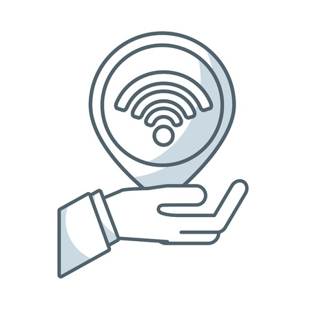 wireless signal: wireless signal waves icon vector illustration design Illustration