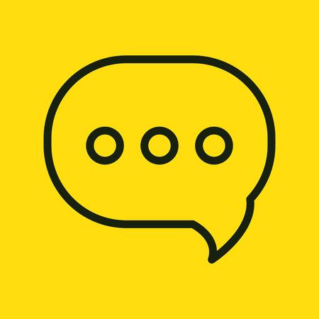bubble speech speak chat social network yellow graphic vector illustration Illustration