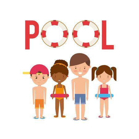 enjoy: pool party enjoy icon vector illustration design