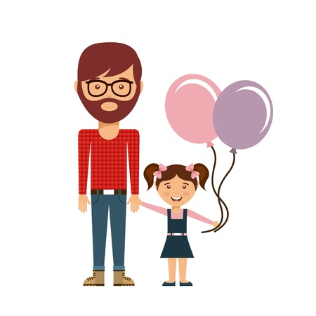 family members: happy family members concept vector illustration design