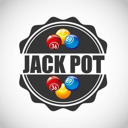 jack pot: jack pot casino game icon vector illustration design
