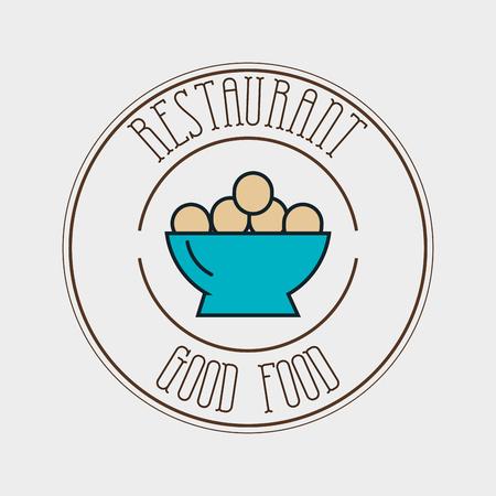 food plate: eggs plate food vector illustration eps 10 Illustration