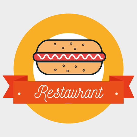resturant: resturant hot dog fast food vector illustration eps 10
