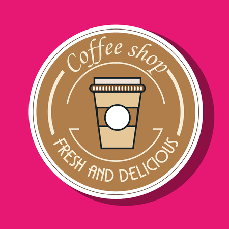 stimulate: coffee shop fresh and delicious vector illustration eps 10