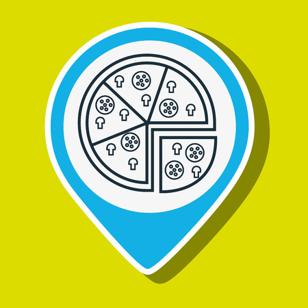 melted cheese: pizza slice fast food vector illustration eps 10 Illustration