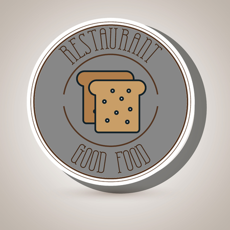 homemade bread: bread bakery slice dessert vector illustration eps 10