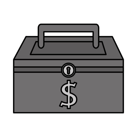 depository: money security box icon vector illustration design Illustration