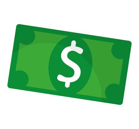 bill of exchange: bills dollars money icon vector illustration design Illustration