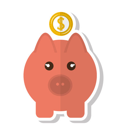 saving accounts: piggy savings money icon vector illustration design Illustration