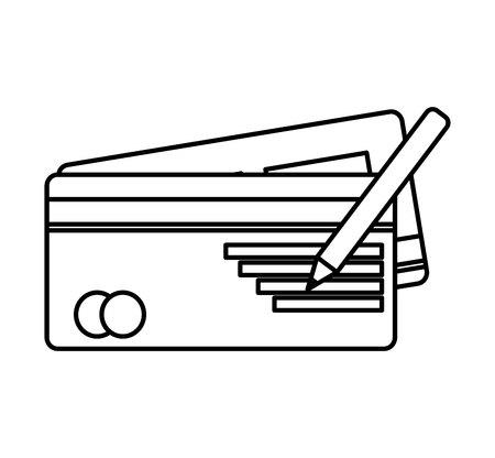 chequera: cheque bancario icónico ilustración vectorial de diseño