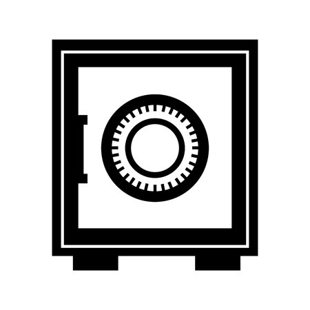 depository: money safe box icon vector illustration design Illustration