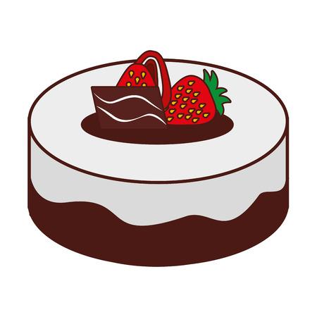 deliziosa torta icona illustrazione vettoriale disegno dolce