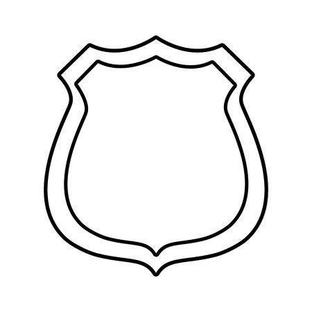 police shield emblem icon vector illustration design