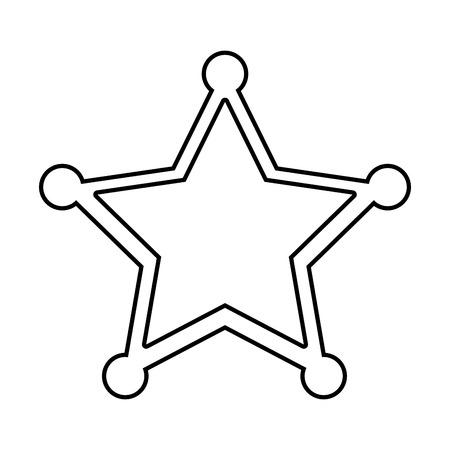 ranger: sherif star emblem icon vector illustration design